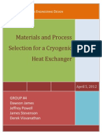 LNG Cyrogenic Heat Exchanger Design Report