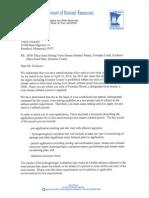 DNR letter to Erickson Mine