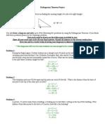 pythagorean theorem project key