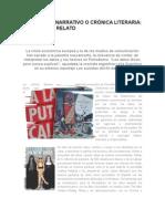 Periodismo Narrativo o Crónica Literaria