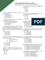 Tabela periódica - exercícios