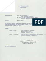 Change in White House Personnel Memo 08.13.1974