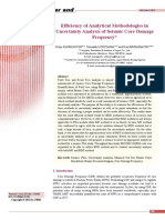 Efficiency of Analytical Methodologies in Uncertainity Analysis of Seismic Core Damage Frequency