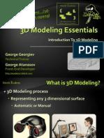 3d modeling essentials