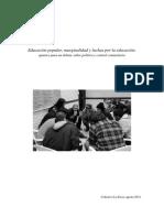 Educación Popular, Marginalidad y Luchas Por La Educación