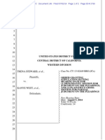 Order for Hearing on Motion Aug. 2 2014