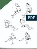 A Figura Sentada-linha Do Ombro e Cintura Pélvica