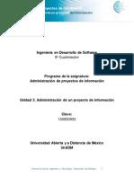 Unidad 3 Administración de Un Proyecto de Información