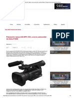 Panasonic Lança AG-HPX 250, A Nova Camcorder Da Linha P2HD _ Revista Panorama Audiovisual Brasil