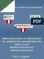 Alternativas Para La Eliminación de Arsénico