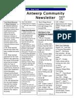 August Newsletter 2014