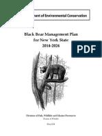 NYSDEC bear hunting plan