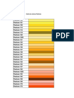 Carta de Colores Pantone Decoracion y Pintura JS