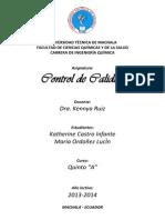 Control de Calida