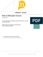 Plato on Philosophic Character - Patterson