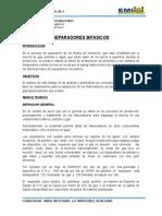 Informe separadores bifasicos