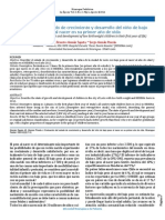 Evaluación Del Estado de Crecimiento y Desarrollo Del Niño Bajo Peso Al Nacer en Su Primer Año de Vida