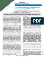 La Nutrición Materna y El Riesgo de Obesidad en La Descendencia. El Caballo de Troya de La Plasticidad Del Desarrollo
