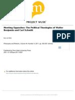 Meeting Opposites The Political Theologies of Carl Schmitt and Walter Benjamin