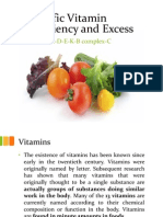 Specific Vitamin Deficiency and Excess