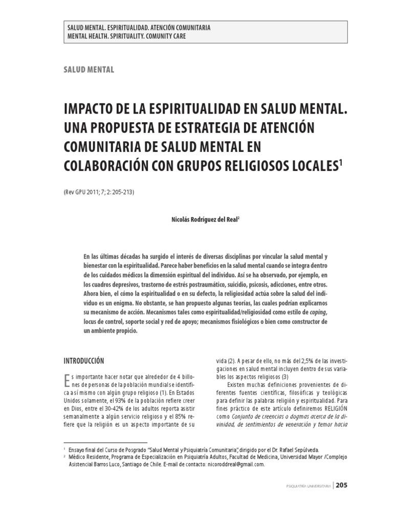 Salud mental y psiquiatria definicion