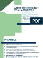 Rheumatoid Arthritis-wacp Presentation, Abuja