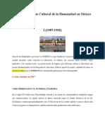 Sitios Patrimonio Cultural de la Humanidad en México