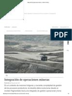 Integración de Operaciones Mineras » Minería Chilena