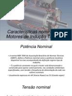 Características Nominais Dos Motores de Indução Trifásicos