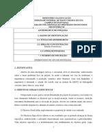 Formulario de Anteprojeto UFMS