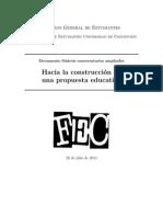 Documento Síntesis Conversatorios Ampliados FEC 2014