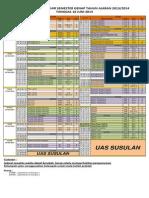 Jadwal Ujian AKhir Semster (UAS) Kelas Reguler Semester Genap 2013-2014