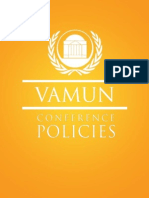 VAMUN Conference Policies