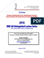 Design of Industrial Power Distribution Systems