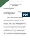 PLANTATION PIPE LINE COMPANY v. MUNICH REINSURANCE AMERICA, INC. et al complaint