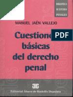 56.- Cuestiones Basicas de Derecho Penal - Jaen Vallejo, Man