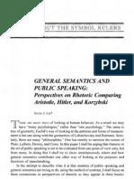 lee, irving j - general semantics and public speaking-perspectives on rhetoric comparing aristotle, hitler and korzybski