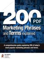 FREE - Top 200 Marketing Phrases & Terms explained