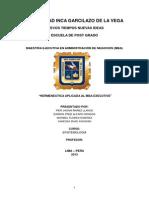 La Hermeneutica Aplicada Al MBA Executive-Tarea