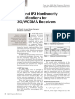 IP2 and IP3 Nonlinearity Specifications for 3G/WCDMA Receivers