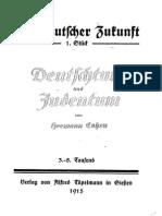 Cohen, Hermann - Deutschtum Und Judentum