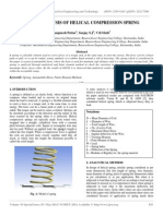 Static Analysis of Helical Compression Spring