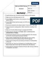 Mast and Dwks Raising Checklist