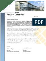 SJSU ASCE Fall 2014 Career Fair Flyer