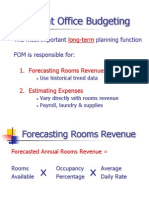Front Office Management and Budgeting