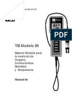 038529 YSI Modelo 85 Manual de Usario RevA