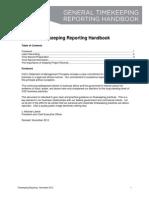 General Timekeeping Reporting Handbook