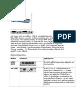 Los Routers de La Serie Cisco 1800 de Servicios Integrados Incluye El Router Cisco 1841