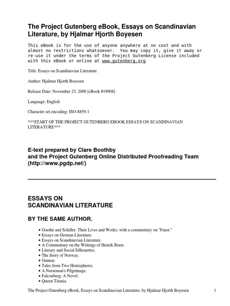 Essays on scandinavian literature by boyesen hjalmar hjorth 1848 essays on scandinavian literature by boyesen hjalmar hjorth 1848 1895 norway theatre fandeluxe Choice Image