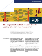 The Organization That Renews Itself Lasting Value From Lean Management